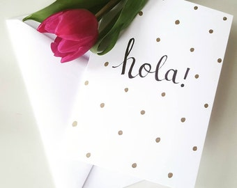Hola - Greetings card