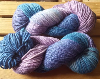 Blue, Pink, Lavender Merino Bamboo Yarn