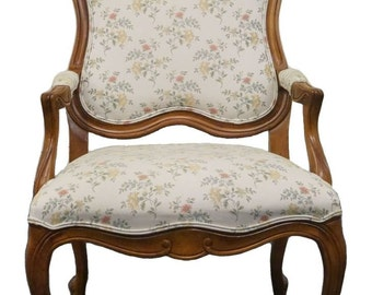 ETHAN ALLEN Legacy Upholstered Accent Arm Chair Russet 13-7177