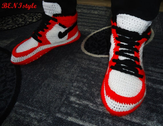 dc7b33a246a3 durable service Nike Air Jordan Shoes Crochet Converse Slippers Adult by  BENIstyle