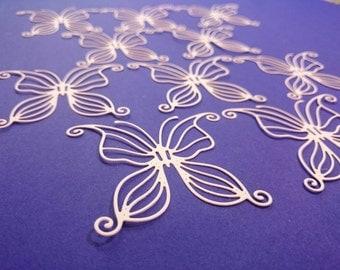 10 x Beautiful, delicate, white butterflies die cuts, Fairyfly, Joanna Sheen butterfly, Embellishment, Die not included
