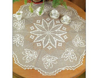 Crochet Pattern To Make A Butterfly Table Topper Doily - PDF Instant Download Pattern
