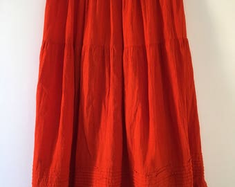 Mexican orange long skirt
