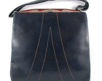 Vintage German (Berlin) Leather Purse Bag