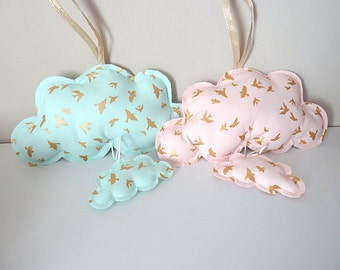 Cloud musical hanging cloud mint pink nude gold sold individually