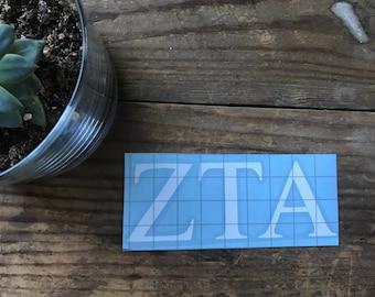 Zeta Tau Alpha Vinyl Sticker