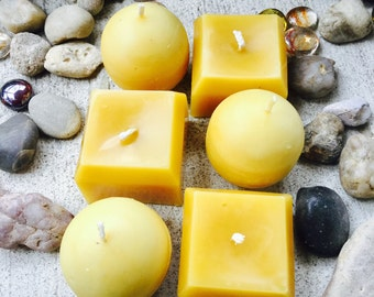 100% Pure organic beeswax candles votive gift set-beeswax ball candle-beeswax square candles-organic beeswax candles