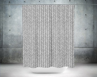 black shower curtain white shower curtain white bathroom decor modern shower curtains