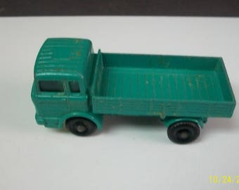 1977 Lesney/Matchbox Mercedes Flatbed Truck Aqua Blue    Matchbox No.1. 1/64 Scale Loose Diecast  Made In England