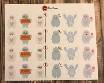 Abominable Snowman stickers