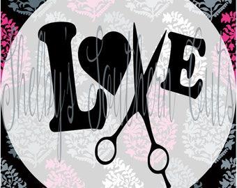 Love- Hairdresser - SVG EPS DXF