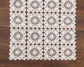 Vintage square lace doily