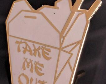 Take Me Out Enamel Lapel Pin