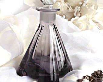 Glass Perfume Bottle, Boudoir Decor, Vintage Perfume Bottle, Shabby Chic Decor, Cottage Chic, Dresser Vanity Decor