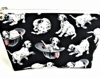 FREE U.S SHIPPING - Dalmatian Bag - Cute Makeup Bag -  Gift for Dog Lover - Dog Zipper Pouch - Small Makeup Bag - Small Cosmetic Bag