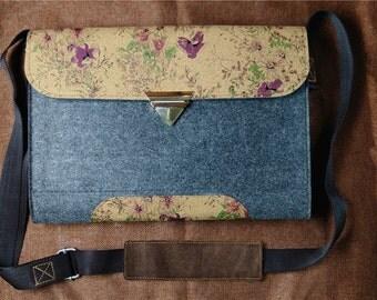 Dell felt sleeve, 13 inch laptop case, dell custom laptop bag, Dell briefcase, Dell laptop case, Gift for her<He>, TABLET CASE, B6D25