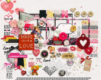 SUMMER SALE - My Love - Digital Scrapbooking Elements