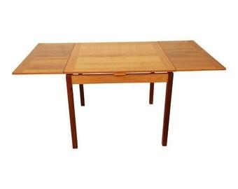 Ansager Mobler Danish Modern Teak Extension Dining Table / Mid-Century Modern Dining Table / Vintage Danish Teak Table