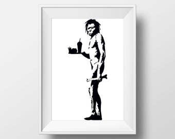 Banksy print instant download, Banksy Printable art