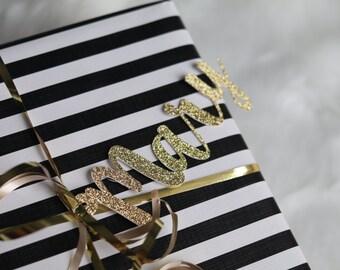 Custom Name Tag, Glitter Tag, Gift Tag, Christmas Tag