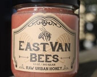 Creamed Local Raw  Honey w/ Organic Strawberry