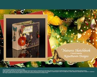 Natures Sketchbook Mini Album_TUTORIAL