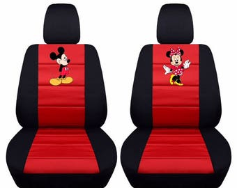 Mickey & Minnie Car Seat Covers....Any Middle Colour Insert....We make for all Makes and Models of Cars