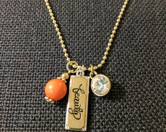 """Hope Inspired 18"""" Gold-tone Ball Chain Charm Necklace - """"Beauty"""""""