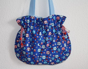 Bag blue OWL bag balloon OWL bag