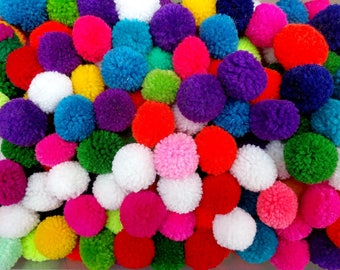 Promotion 200count +Free40 of 2 cm PomPom s mixed colors or choose you own color