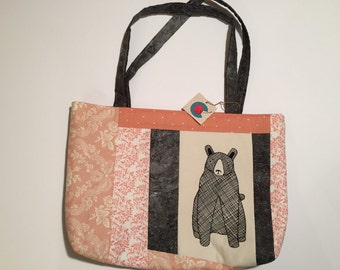 Fabric Carryall with Bear
