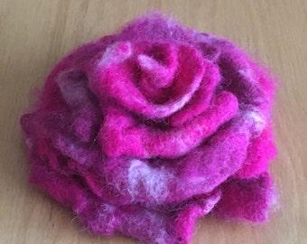 Sale!  Felted Wool Flower Brooch Pin