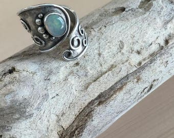 mexican opal silver950 ring