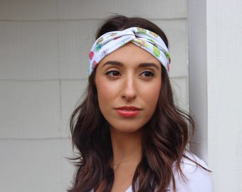 Pineapple Turban Headband/Pineapple Headband/Fruit Headband/Beach Headband/Beach Turban Headband/Colorful Headband