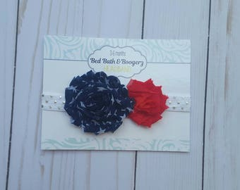 Red White and Blue baby Headband, fourth of july head band, 4th of July head band, Memorial day headband, patriotic head band, military baby