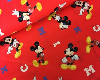 Mickey mouse fabric disney fabric - donald duck - selfie -  fabric- material -sewing -supply  - bty -1 yard