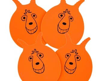 FOUR Silicone  Space Hopper Coasters