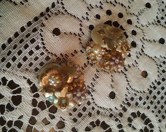 Vintage bejewels clip on earrings bejewels jewelry bejewels earrings vintage earrings antique style earrings