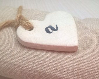 Wedding favours, personalised wedding favours, heart tags, clay tags, keepsake, table decor, wedding favors, gift tags, napkin rings.
