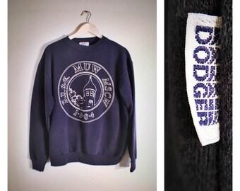 70s navy Dodger MUW / MSCW sweatshirt