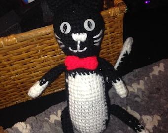 Cuddly Cute Tuxedo Cat