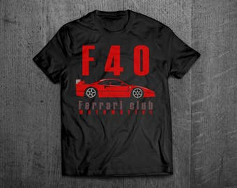 Ferrari shirts, Ferrari F40, Ferrari t shirts, Cars t shirts, men tshirts, women t shirts, muscle car shirts, bikes shirts, Enzo shirts