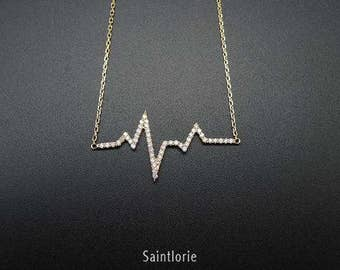 0.25 Carat Diamond Heartbeat Necklace