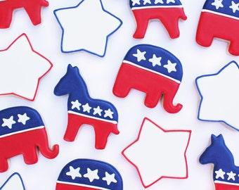 American Political Sugar Cookies