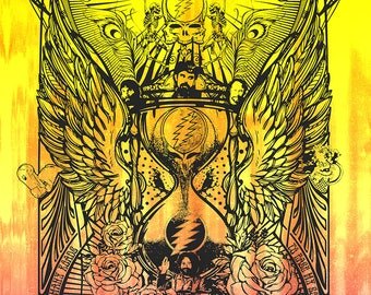 Grateful Dead - Then - Now - Forever 1965 Hourglass/Sands of Time Poster