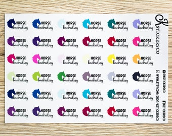 Multi Colour Horse Backriding Planner Stickers for Erin Condren and Recollection Lifeplanner
