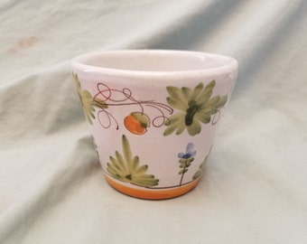 Hand painted Italy flower pot planter