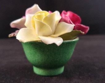 Crown staffordshire bone china flower pot