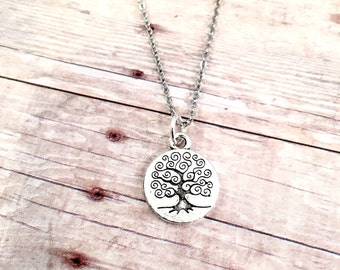 Family Tree necklace, For Mother necklace, family tree charm necklace, Best Friend, gift for mom, for sister , grandmother