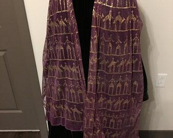 SALE  Passion for Purple Vintage Assuit w/Gold #V17032